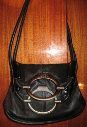 Сумка-клатч черная женская (кожзам)