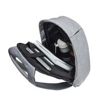 Новый рюкзак Bobby серый с защитой от краж.